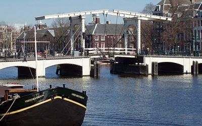 Skinny Bridge Famous Bridge in Amsterdam